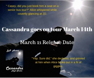 Cassandra goes on tour March 14th
